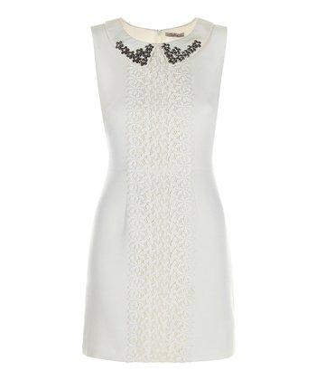 Darling Cream Naomi Sleeveless Dress