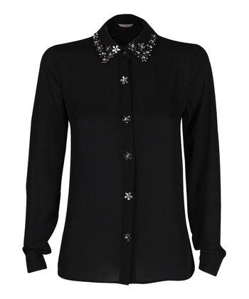 Darling Black Naomi Button-Up