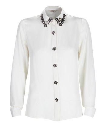 Darling Cream Naomi Button-Up