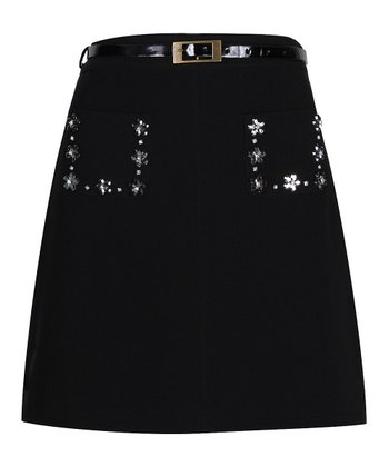 Darling Black Naomi A-Line Skirt