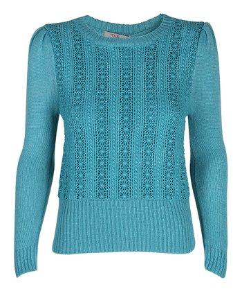 Darling Turquoise Nicole Sweater