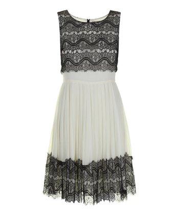 Darling Cream Reese Sleeveless Dress