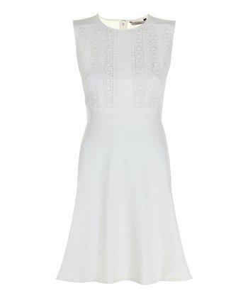 Darling Cream Faye Sleeveless Dress