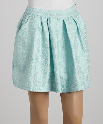 Ju's Blue Pleated Skirt
