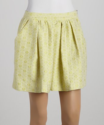 Ju's Green Pleated Skirt