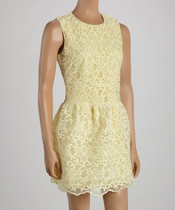 Ju's Yellow Carrie Sleeveless Dress