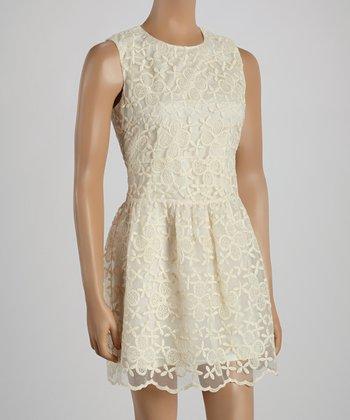 Ju's Cream Carrie Sleeveless Dress
