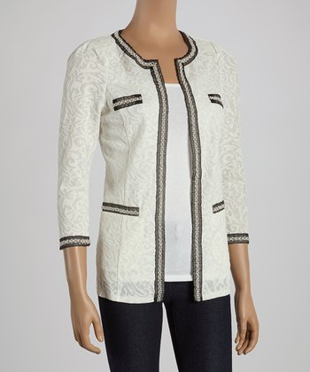 Ju's Cream Pearl Classic Jacket
