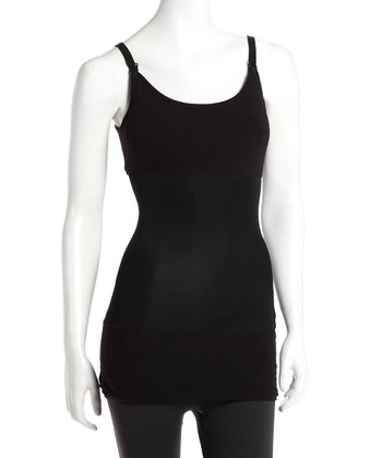Black Long Nursing Shaper Tank