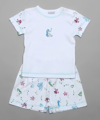 Blue Sea Life Tee & Shorts - Infant