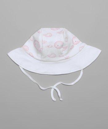 White & Pink Whale Sunhat