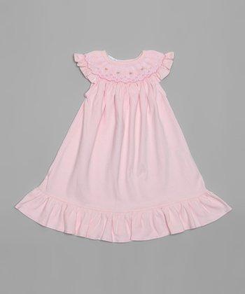 Pink Smocked Bishop Dress - Infant