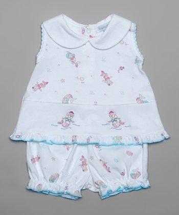 White Mermaid Top & Bloomers - Infant