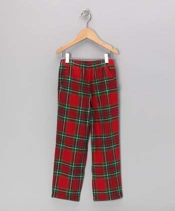 Red & Green Plaid Pants - Infant, Toddler & Boys