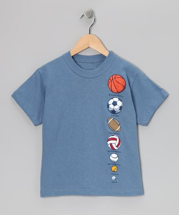 Storm Blue Ball Chart Tee - Boys