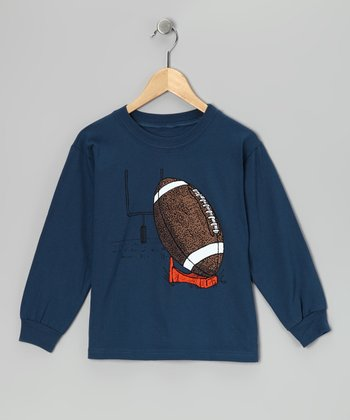 Ink Blue Football Tee - Boys