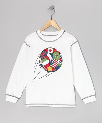 White World Soccer Tee - Boys