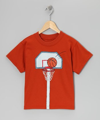 Chestnut Basketball Hoop Tee - Boys