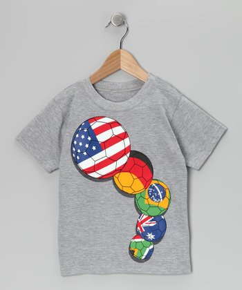 Gray World Soccer Tee - Toddler & Boys