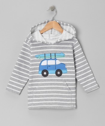 Gray Stripe Surf Car Hoodie - Infant, Toddler & Kids