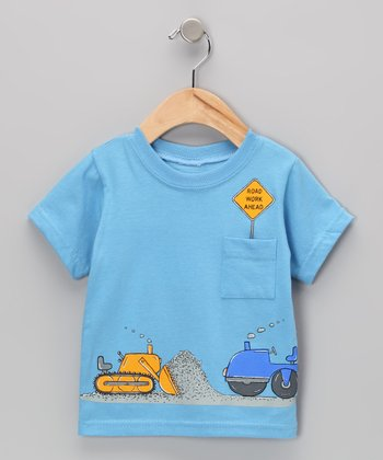 Sky Blue 'Road Work Ahead' Tee - Infant