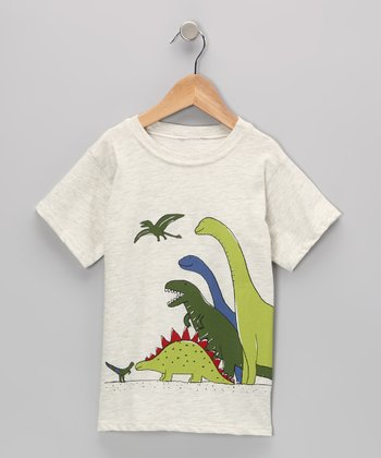 Oatmeal Dino Tee - Infant & Boys