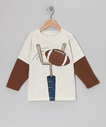 Oatmeal Field Goal Layered Tee - Toddler & Boys
