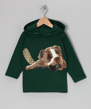 Evergreen Hockey Dog Organic Cotton Hoodie - Toddler & Boys