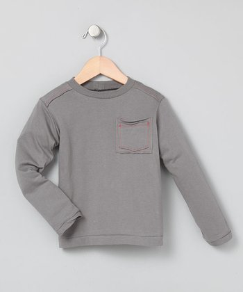 Slate Elbow-Patch Tee - Infant, Toddler & Boys