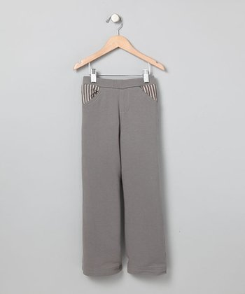 Slate Stripe Pocket Pants - Boys