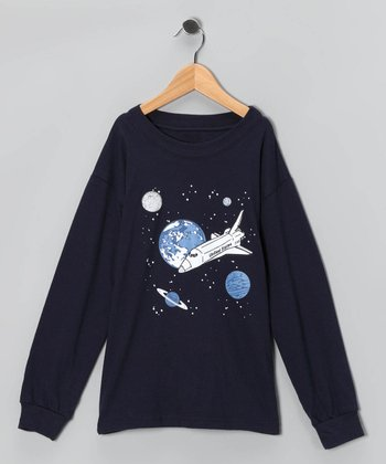 Navy Space Tee - Boys