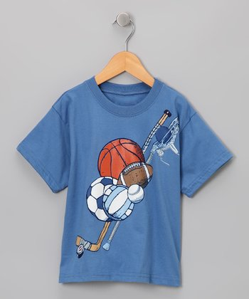 Blue Multi Sports Tee - Toddler & Boys