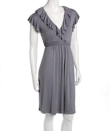 Dove Gray Kate Maternity & Nursing Dress