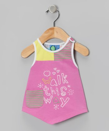 Super Pink 'Walk This Way' Tank - Infant