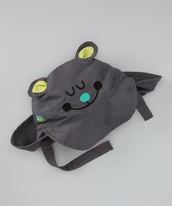 Gray Bear Face Sunhat - Infant & Toddler