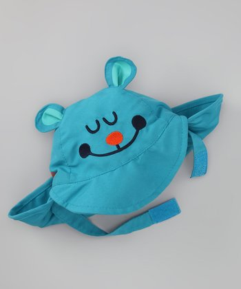 Turquoise Bear Face Sunhat - Infant & Toddler