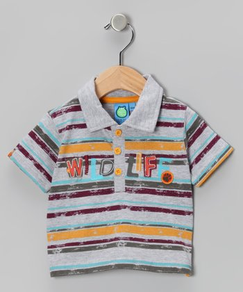 Radiant Yellow Stripe Polo - Infant