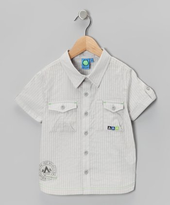 Gray Violet Button-Up - Infant