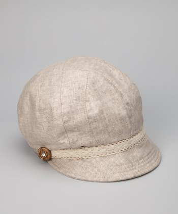 Beige Medallion Jockey Cap