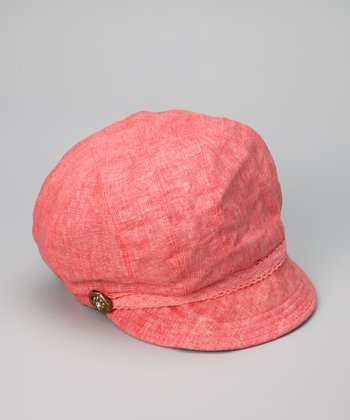 Coral Medallion Jockey Cap