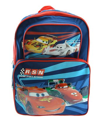 Blue Cars Cargo Backpack
