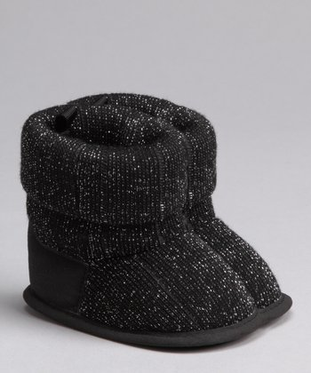 Vitamins Baby Black Cuff Lurex Booties