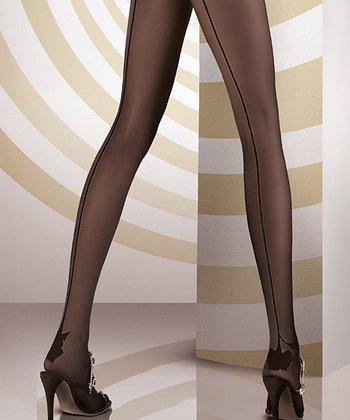 ORI Black Alta Moda Collant Tights - Women