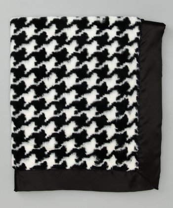 Black & White Houndstooth Stroller Blanket