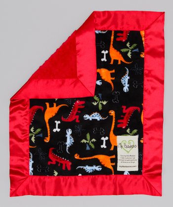 Black & Red Dino Bone Security Blanket