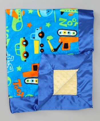 Turquoise & Electric Blue Toy Chest Stroller Blanket