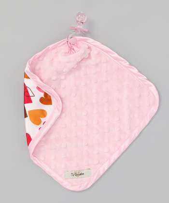 Pink & Gold Velour Heart Lovey