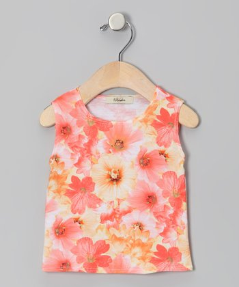 Orange & Yellow Delilah Tank - Infant