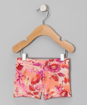 Pink & Orange Jessica Shorts - Infant