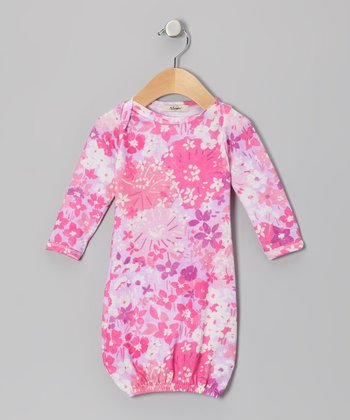 Pink & Lavender Elizabeth Long Sleeve Gown - Infant